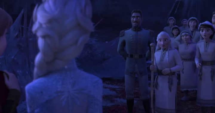 Frozen 2 has an Disney Easter egg pop up early in the film